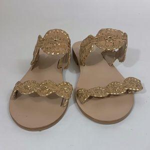 Jack Rogers Gold Cork Sandals Size 10